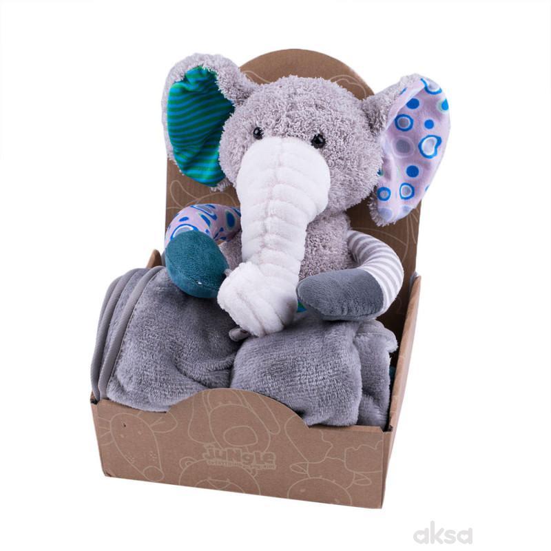 Jungle ćebe sa igračkom, slon