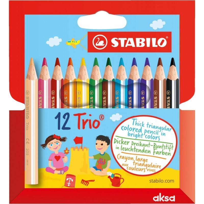 Stabilo Trio kratka debela bojica 1/12