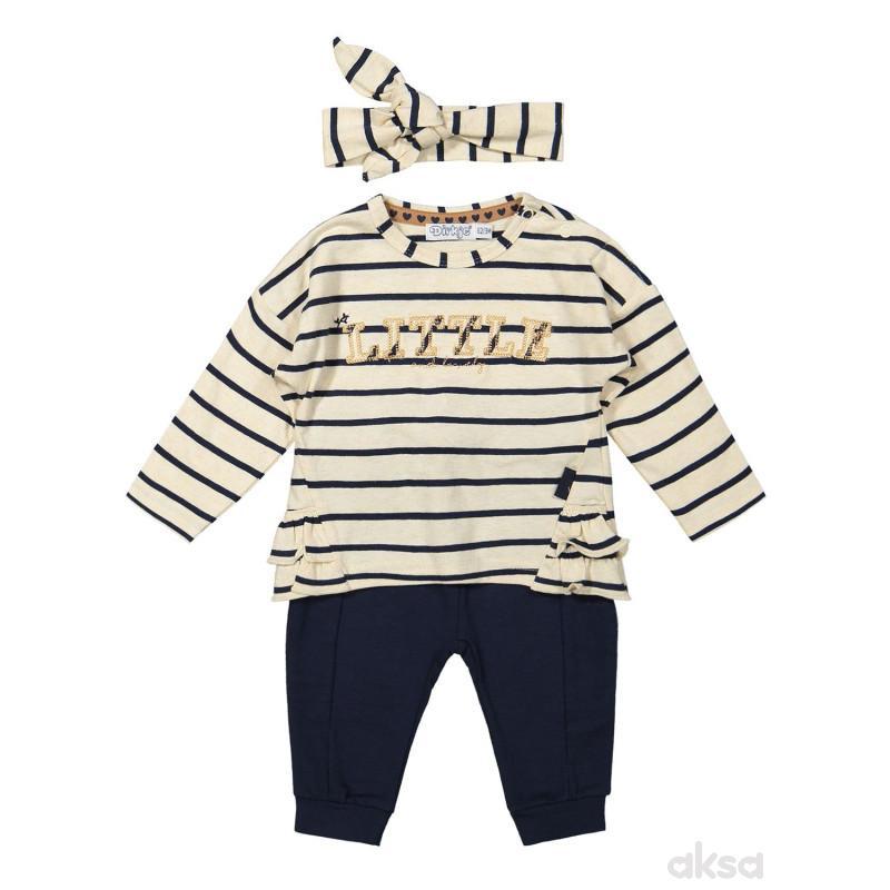 Dirkje komplet 3/1 (majica, d.deo,traka),devojčice
