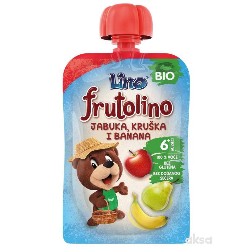 Lino bio pouch jabuka, kruška i banana 100g