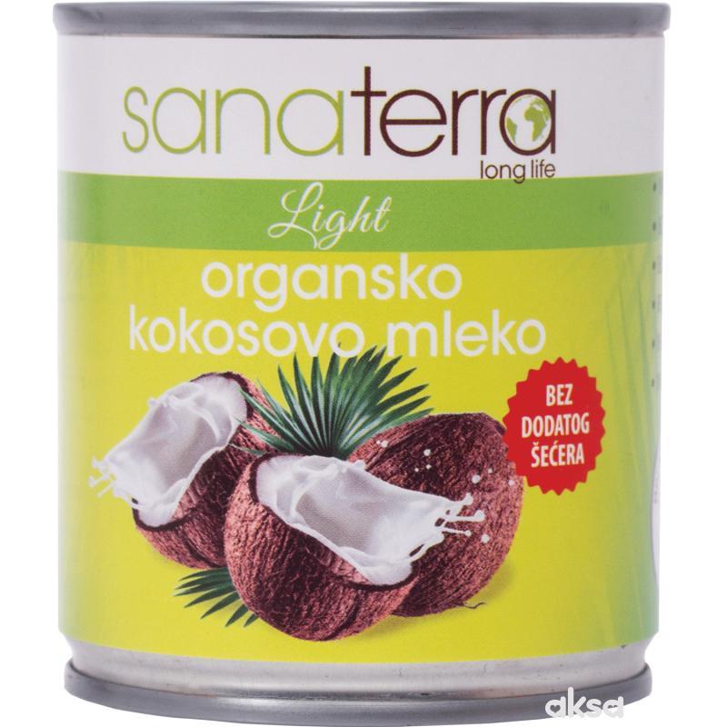 Sanaterra organsko kokosovo mleko, 200ml