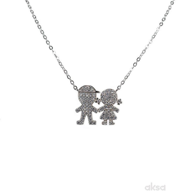 Silver line ogrlica AS7432-N