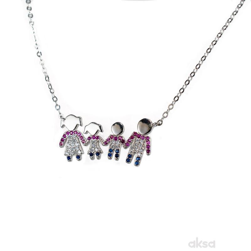 Silver line ogrlica  AS7436-N