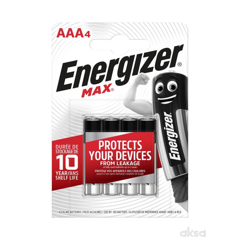 Energizer baterije max AAA 4 kom AL