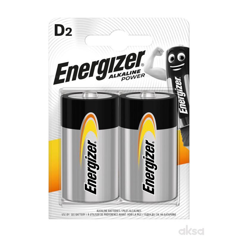 Energizer baterije D alkalne 2 kom