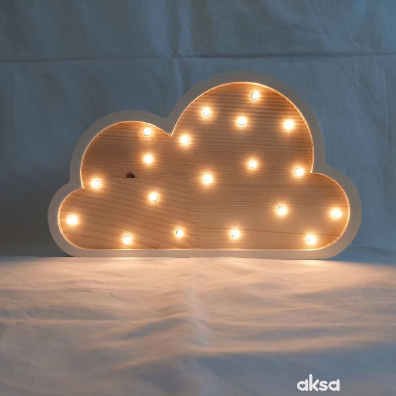 Two N Oblak LED lampa AA Bela