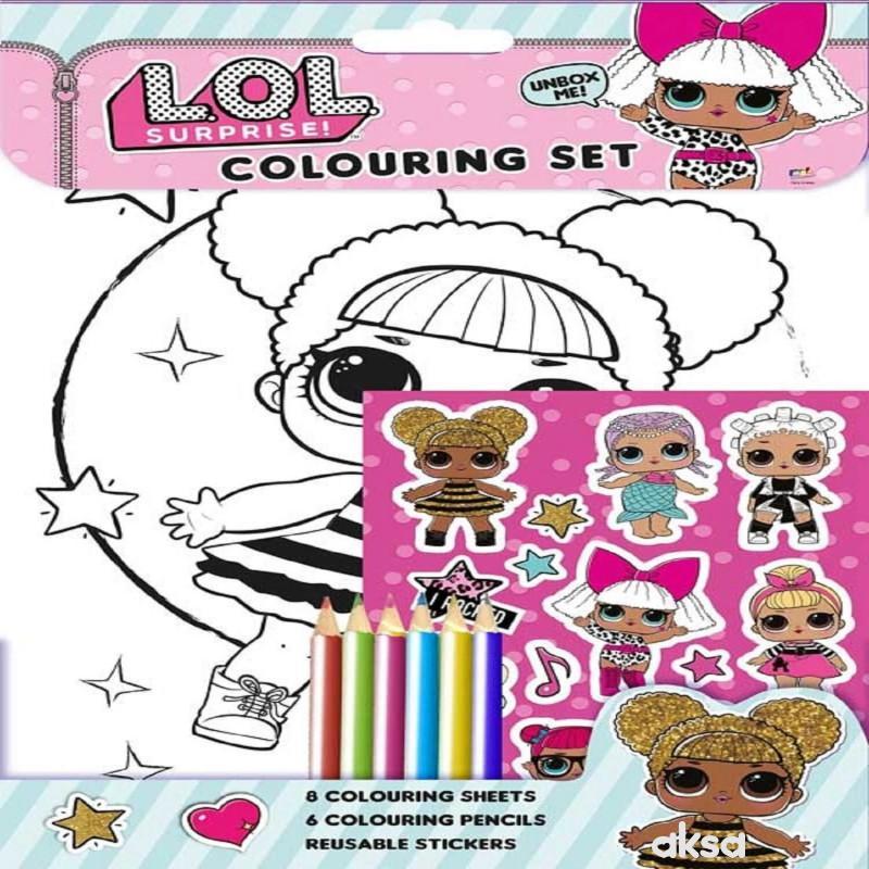 LOL - Bojanka sa bojicama i nalepnicama
