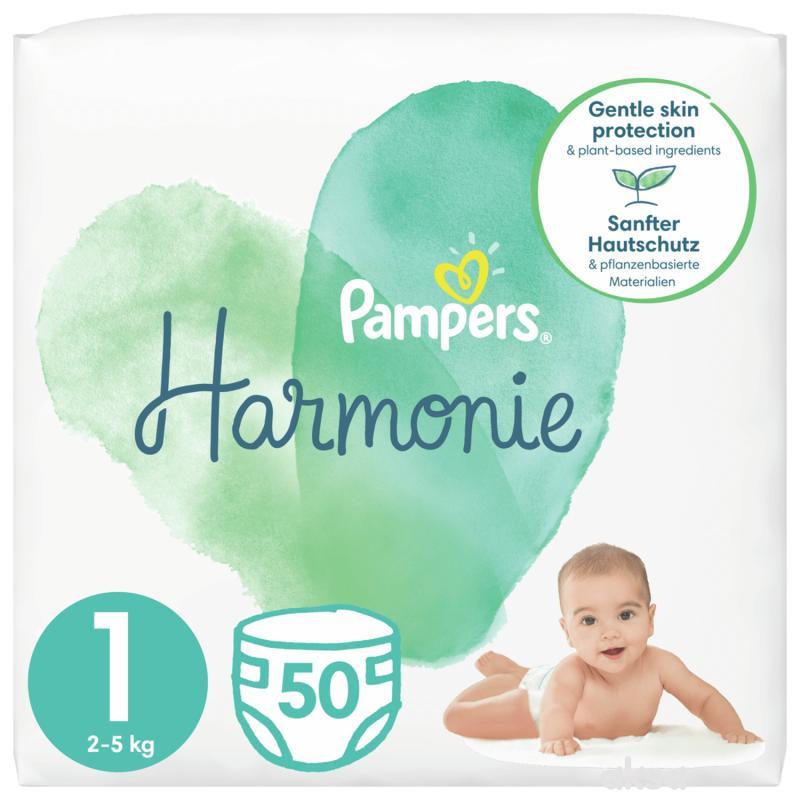 Pampers Harmonie S1 new born 2-5 kg 50kom