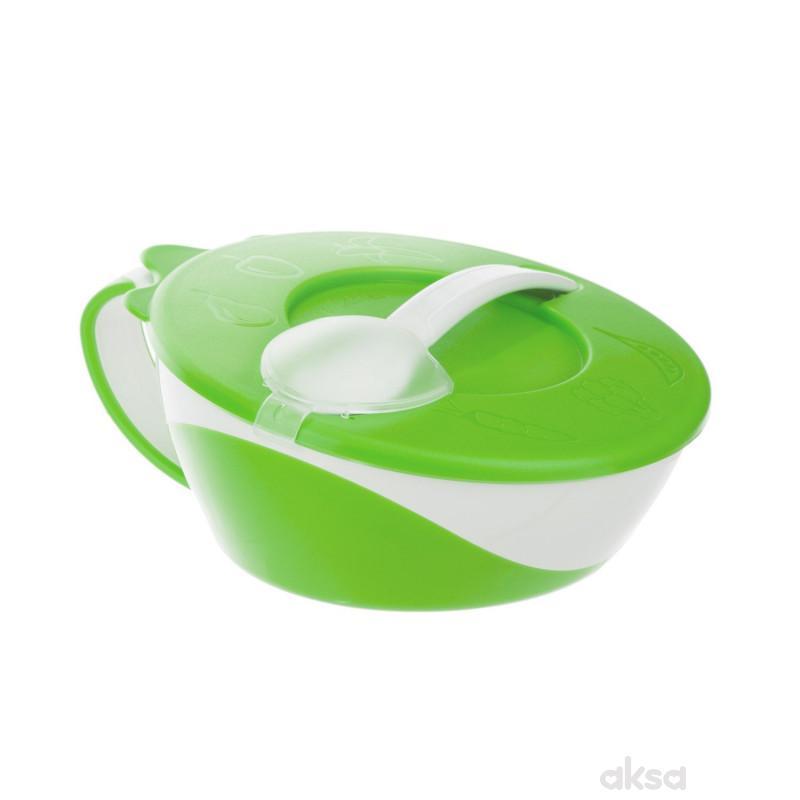 Canpol baby činijia sa kašikom zelena